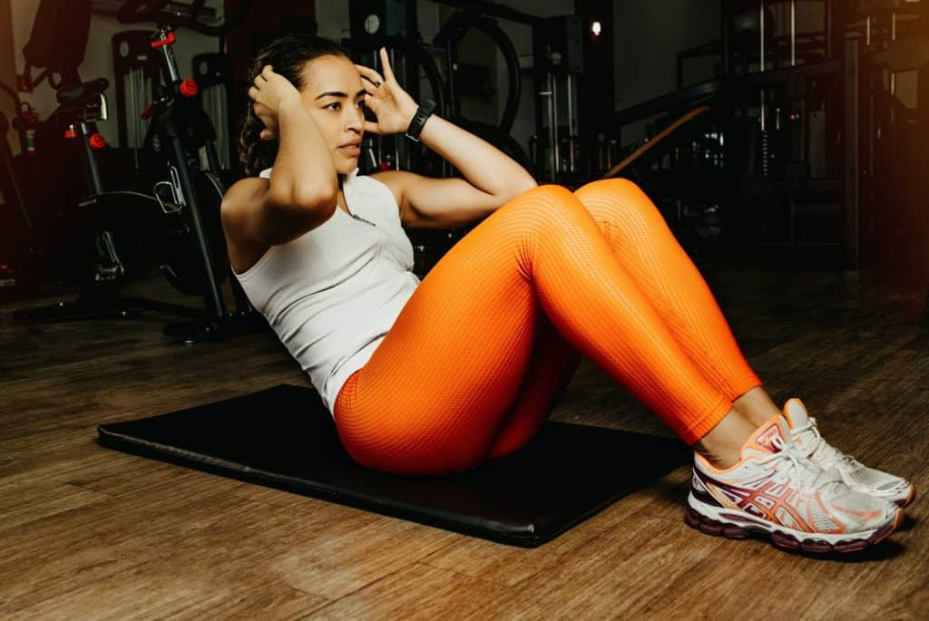 Photo of a lady working out