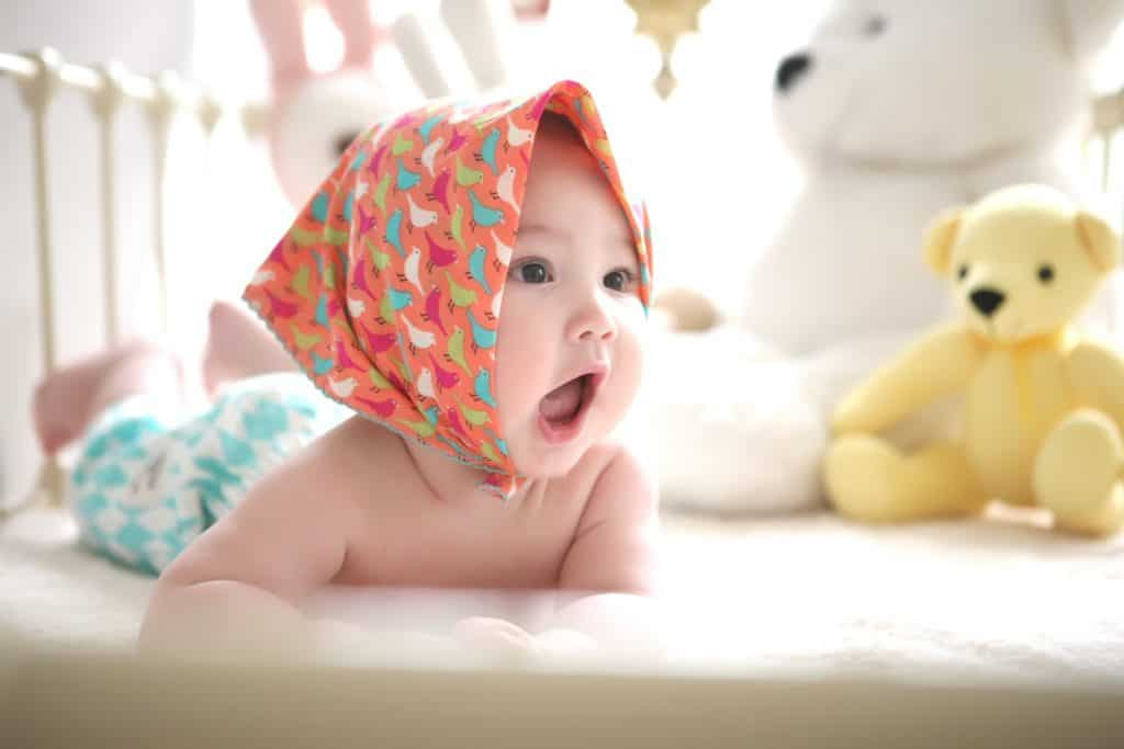 Photo of a cute baby girl