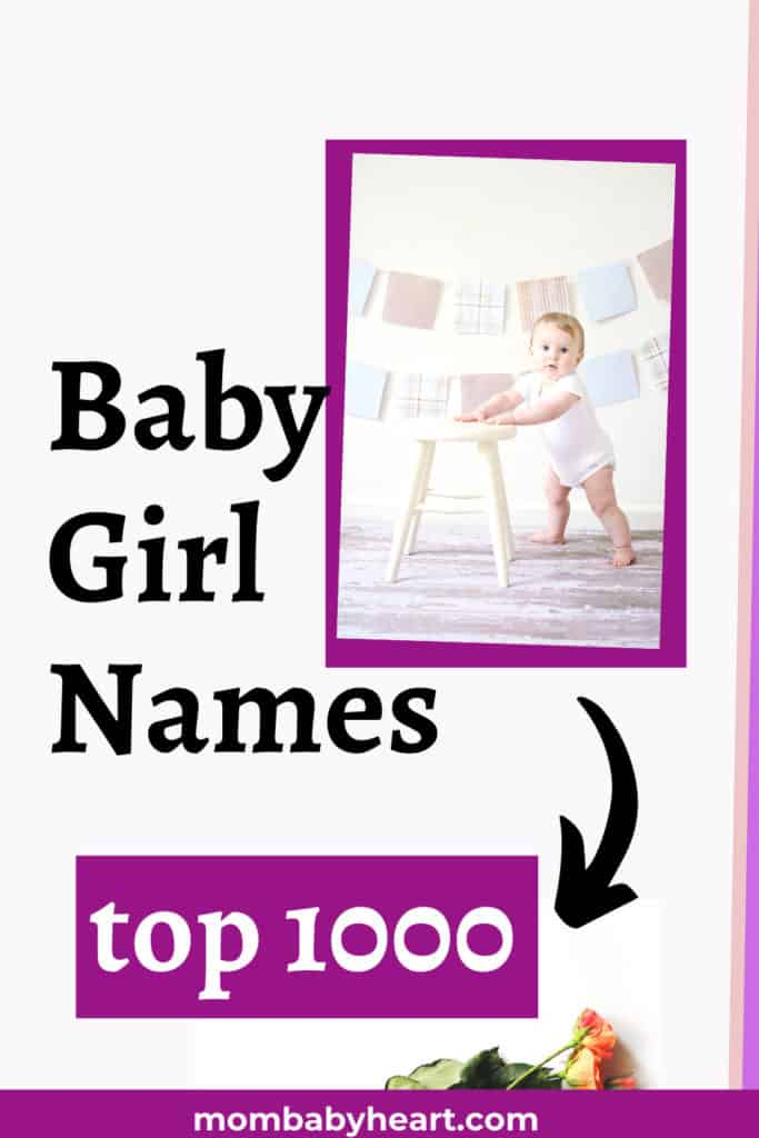Photo of top 1000 baby girl names