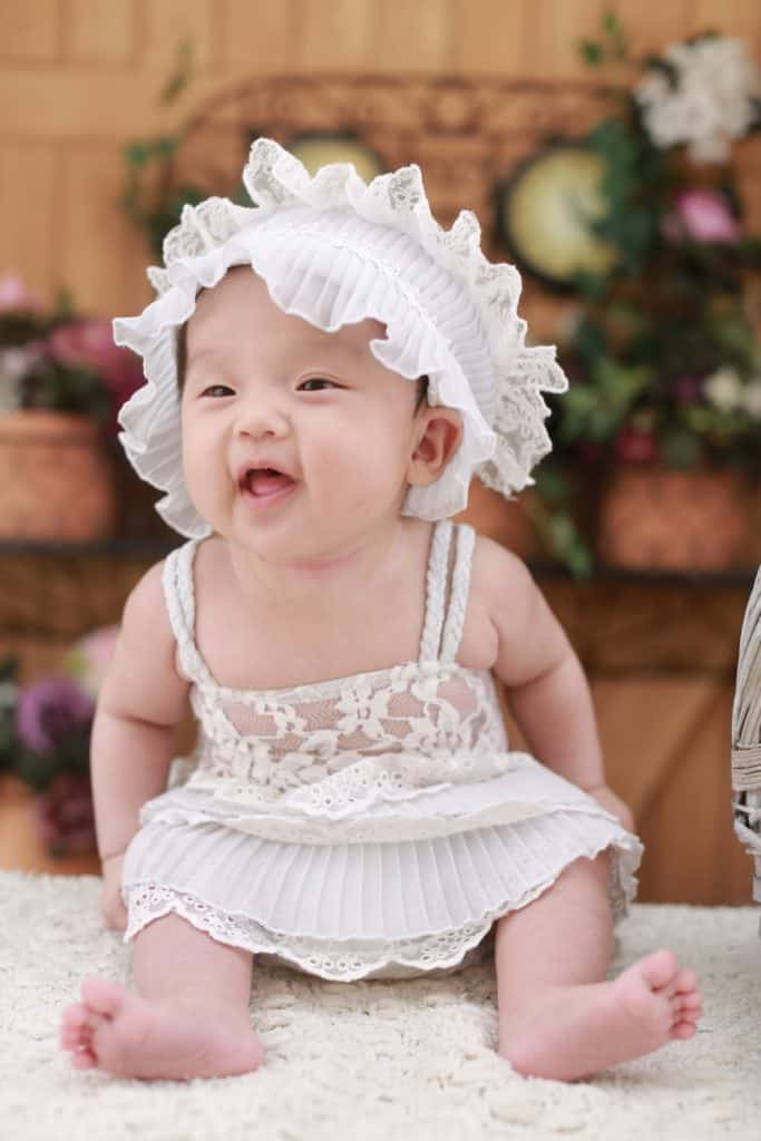 Image of a cute baby girl