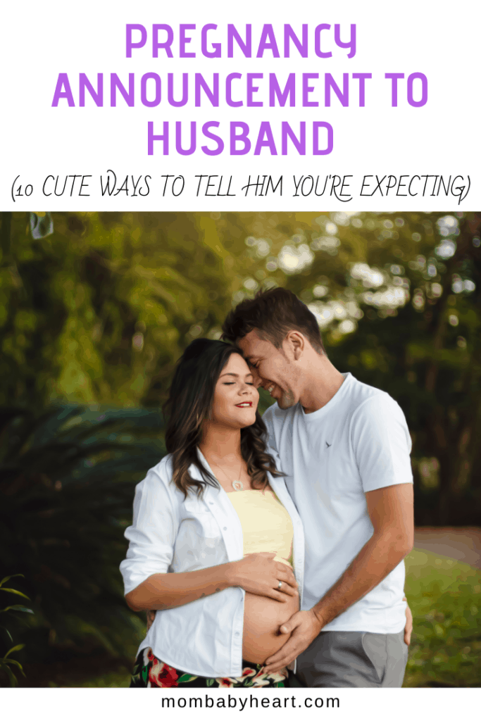 Pin Image of Pregnancy Announcement To Husband