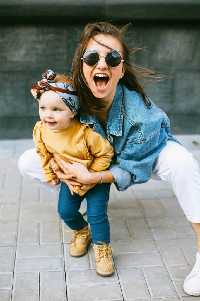 Photo of a Mum loving her daughter