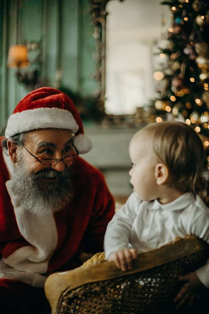 Photo of santa with a baby boy