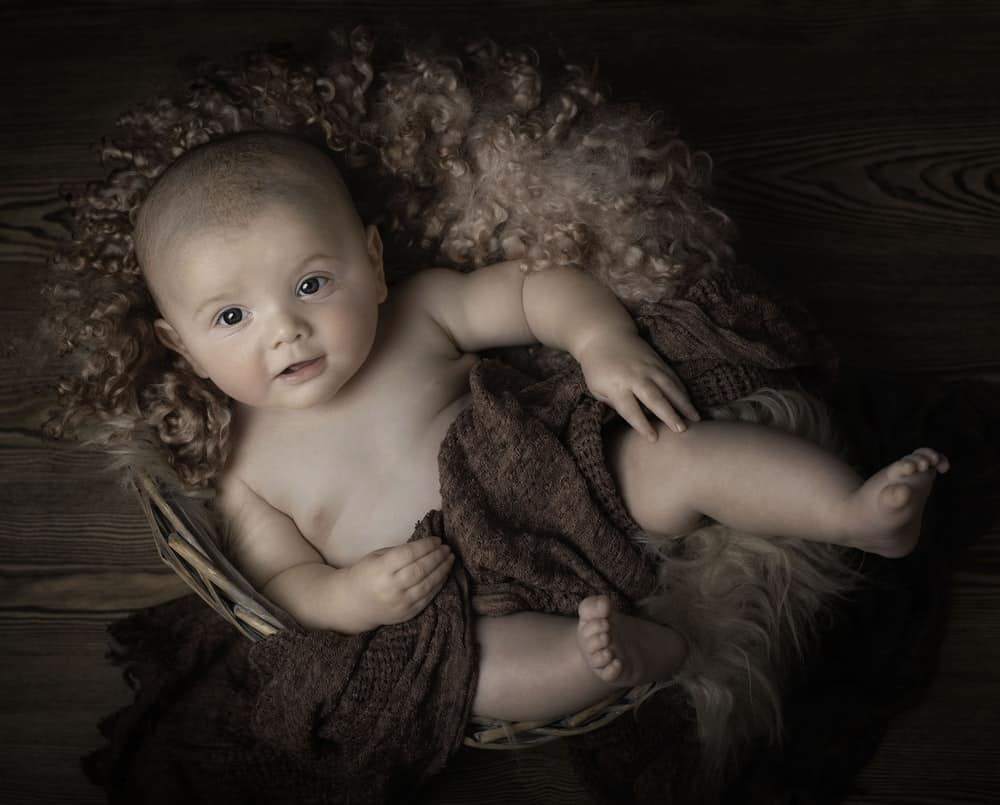 Photo of a cute baby boy