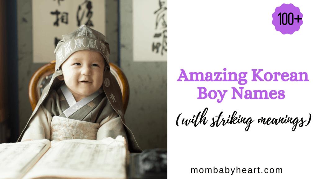 Image of korean boy names
