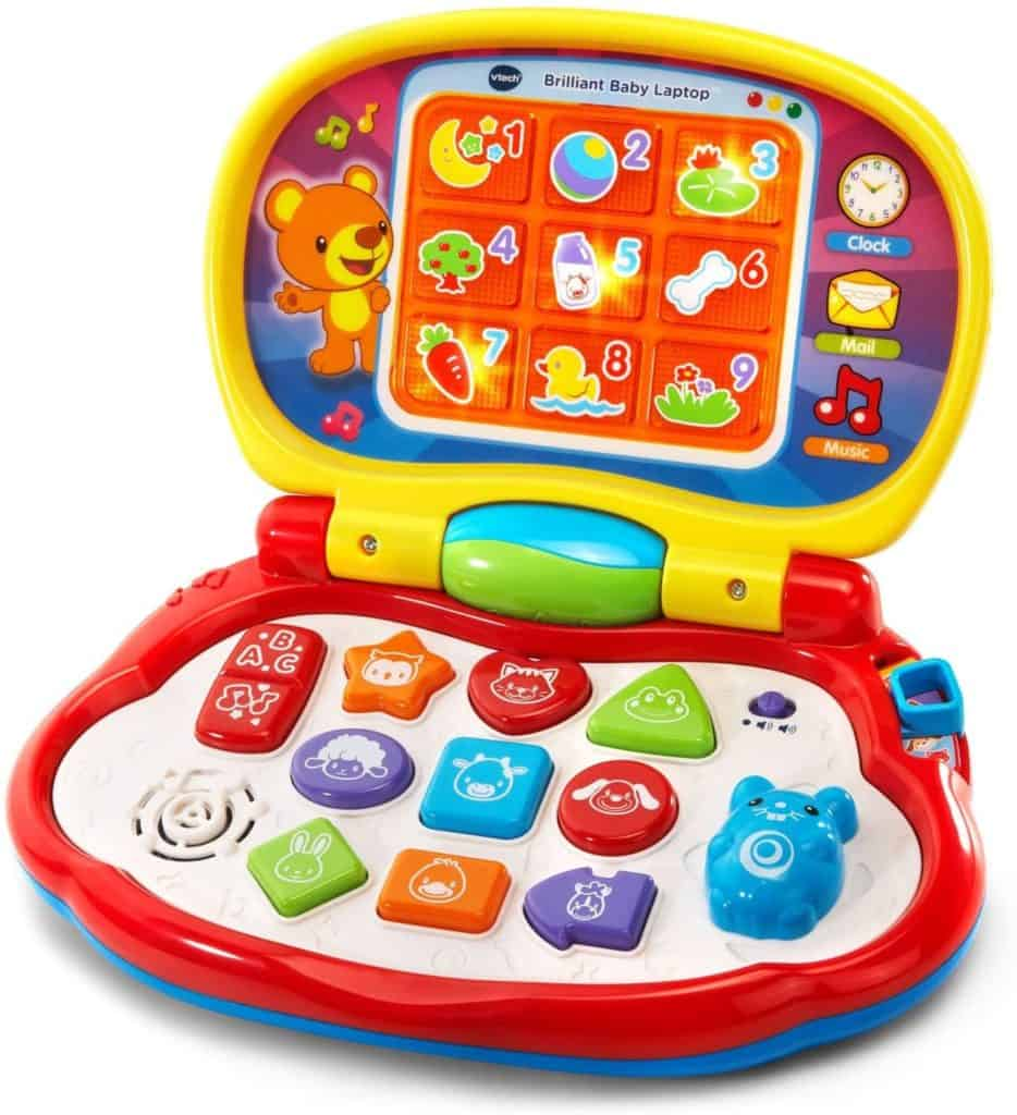 Photo of V-tech Brilliant Baby Laptop;  a great computer for toddlers
