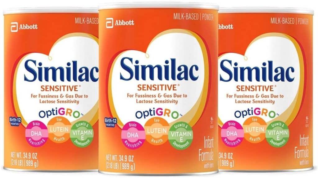 Photo of Similac Sensitive; Enfamil vs Similac