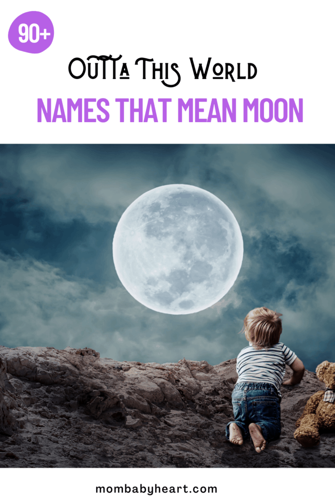 Pin image of names that mean moon