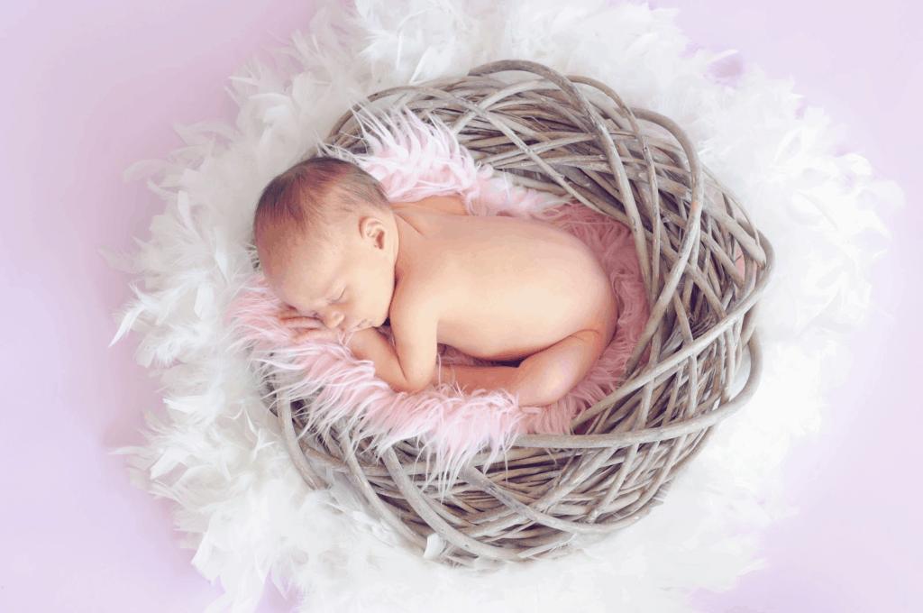 Photo of a cute baby sleeping