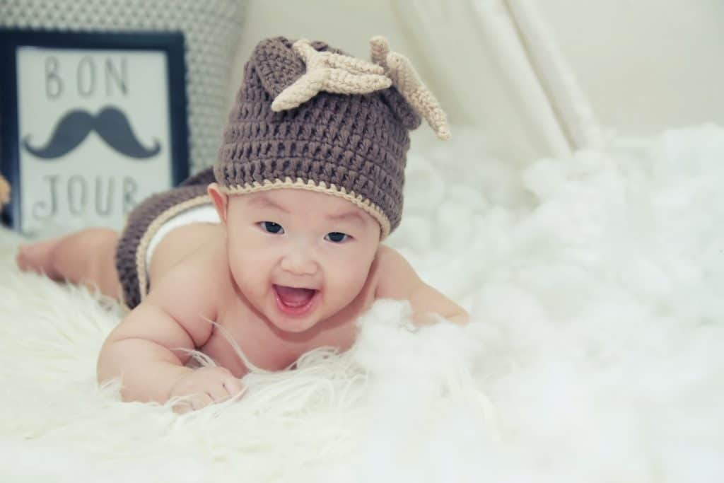 Photo of a baby boy; german names for boys are cool