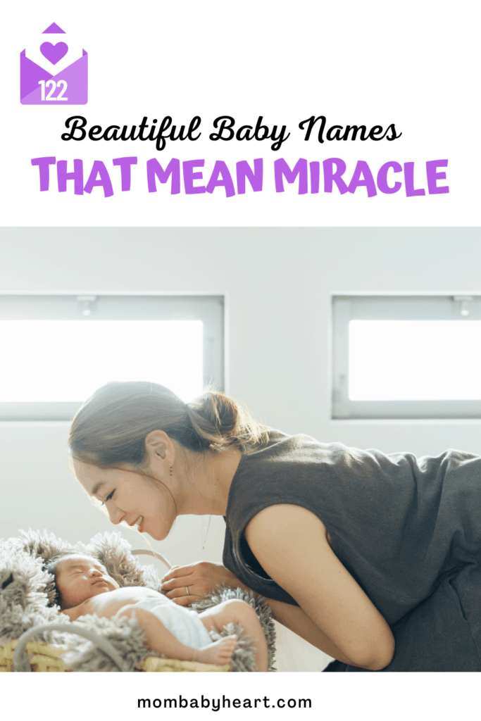 Pin image of names that mean miracle are lovely