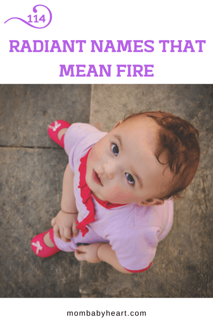 Pin image of names that mean fire