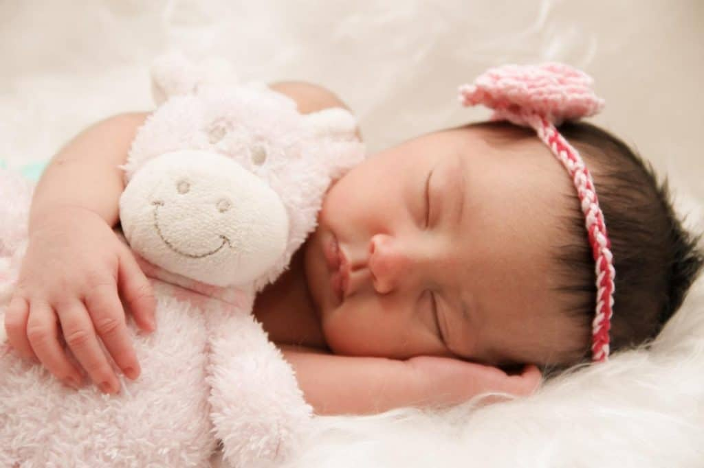 Photo of a baby sleeping on Polyurethane foam