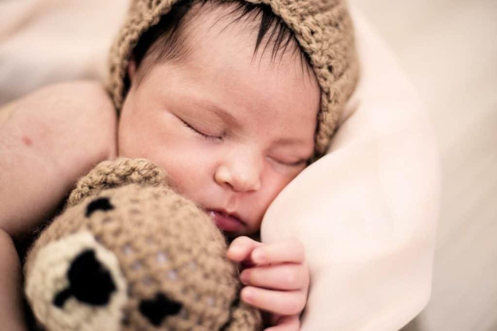 Photo of a baby sleeping