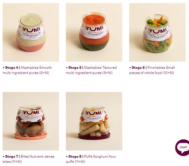 Photo of Yumi Food; one of the best organic baby food