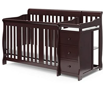 Photo of Storkcraft crib with changing table