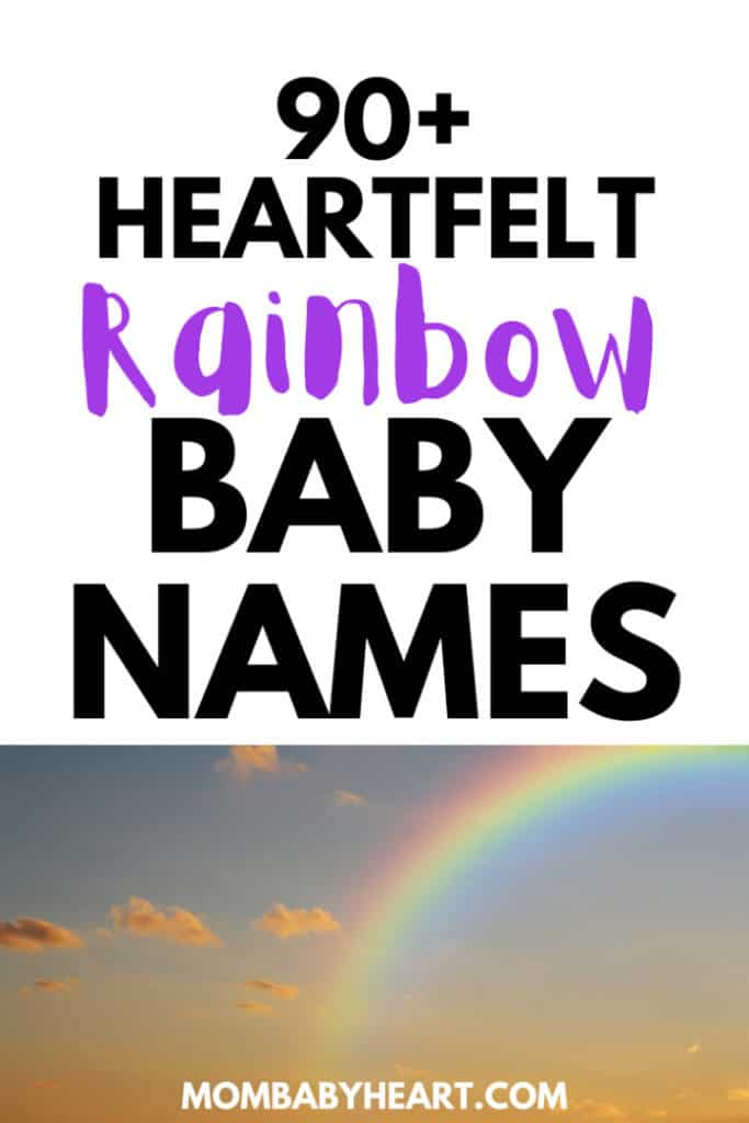 Pin image of names that mean rainbow