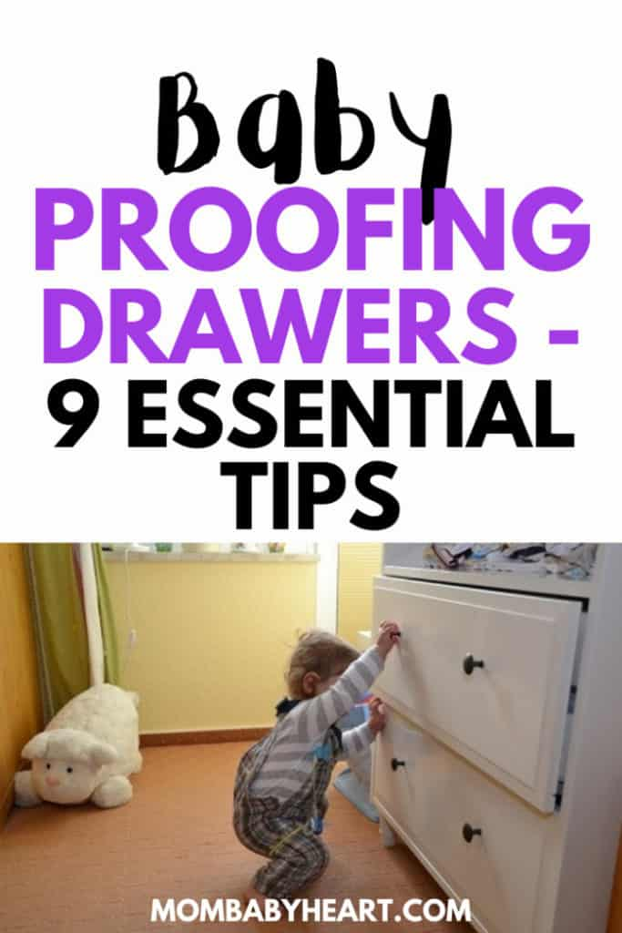 Pin image of baby proofing drawers