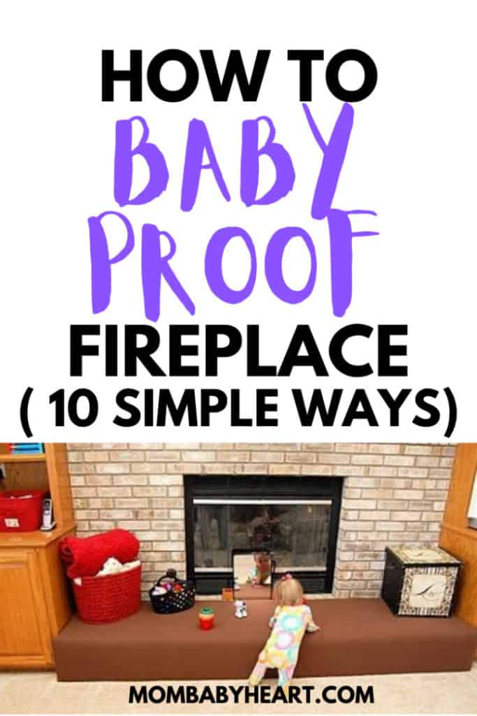Pin image of baby proof fireplace