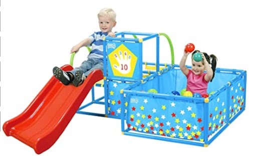 Eezy Peezy Gym playset; one of the best toddler climbing toys