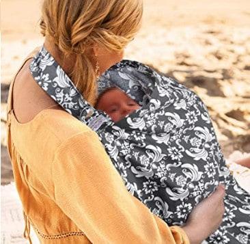 Photo of a Mom using a nursing cover