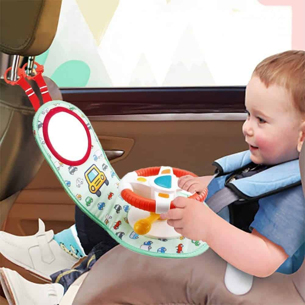 Photo of a toy steering wheel for car seat