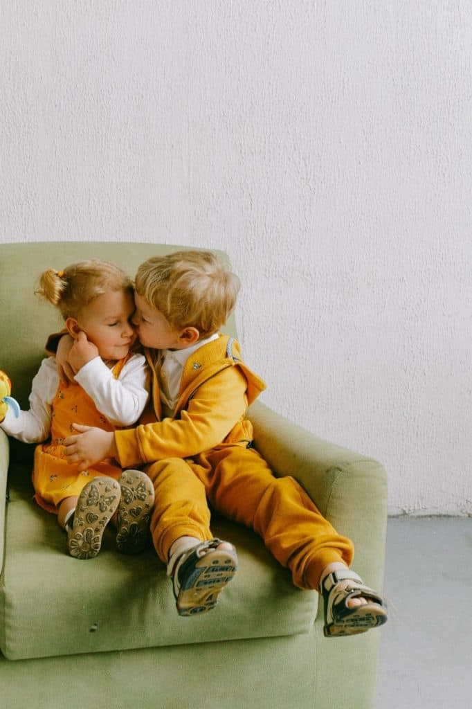 Photo of a boy & girl; Unisex French Names are beautiful