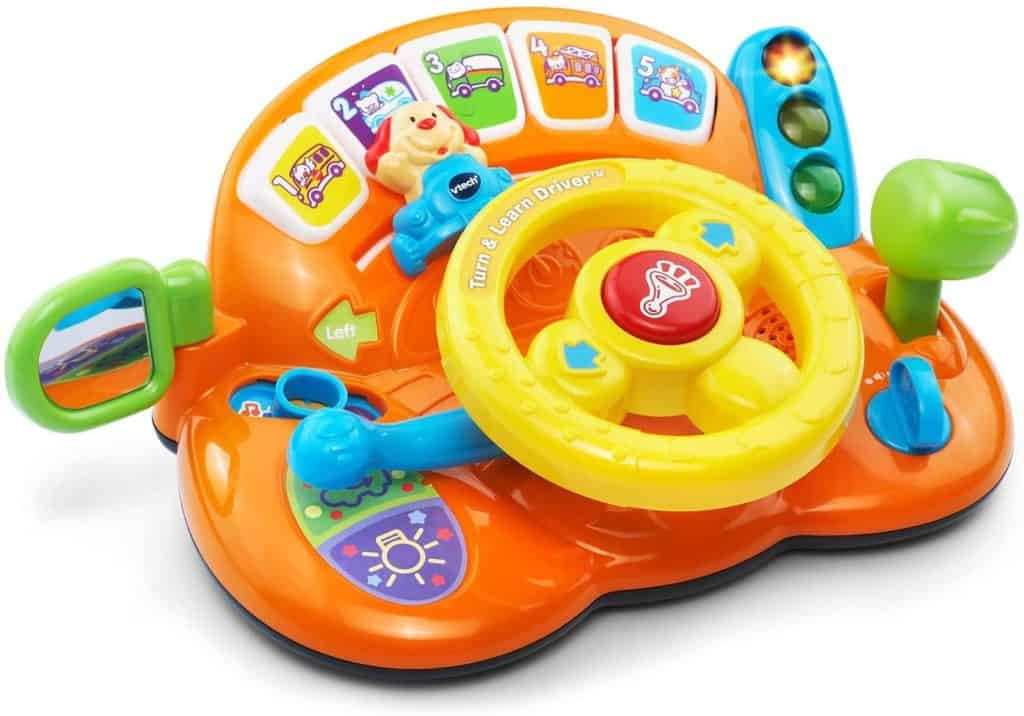 Photo of VTech Turn and Learn toy steering wheel for car seat