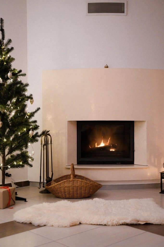 Photo of a fireplace; you need to baby proof fireplace