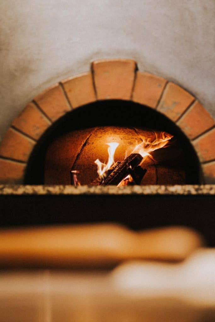 Photo of a hearth in a fireplace
