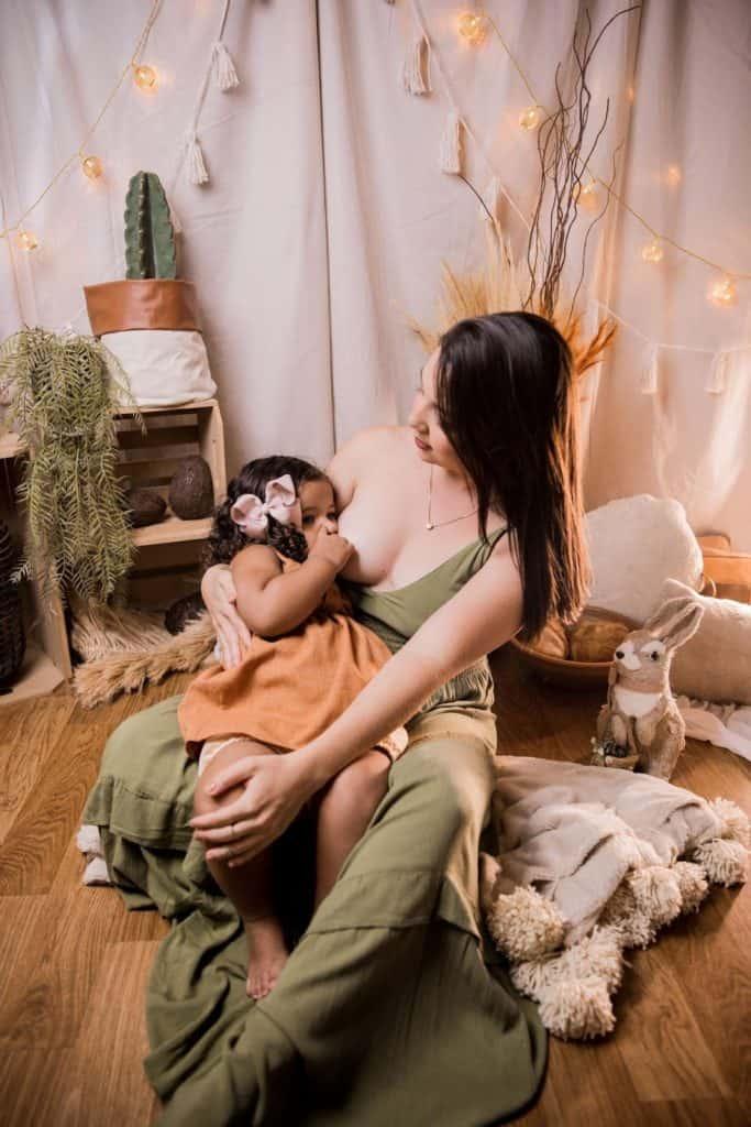 Photo of comfortable yet stylish nursing clothes