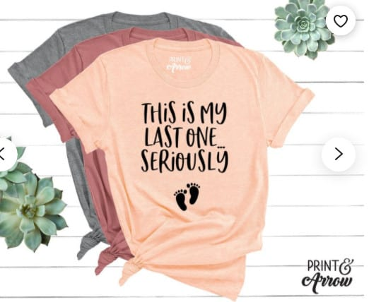 Photo of a cool shirt; one of the best pregnancy announcement gifts for grandparents