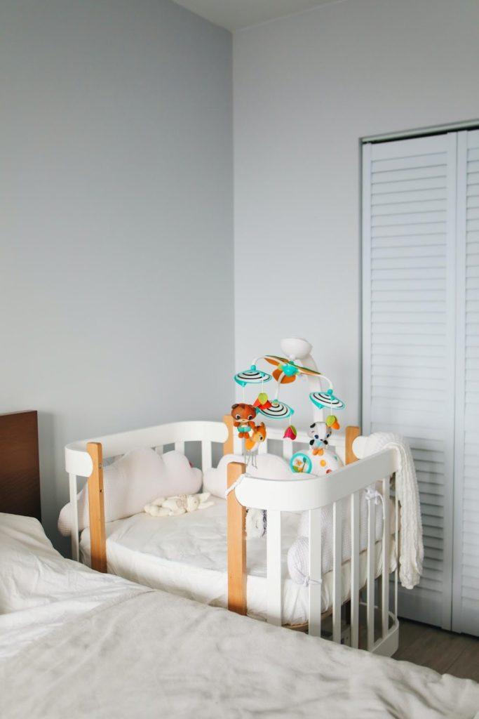 Photo of a newborn's bassinet