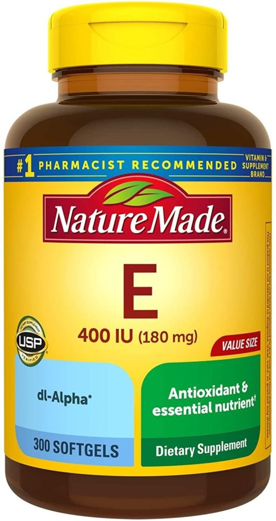 Photo of Vit E; one of the great supplements for pregnancy